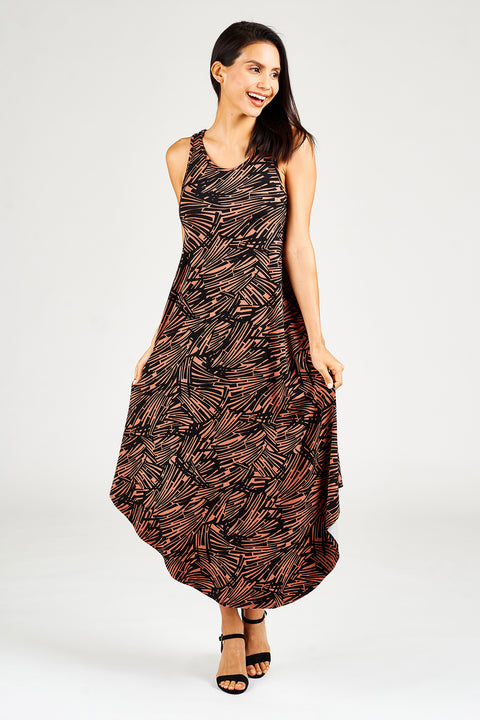 Band Back Maxi Dress