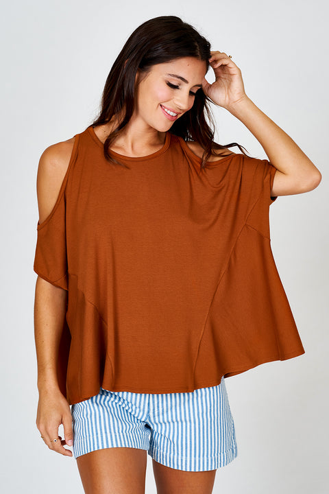 Cold Shoulder Trapeze Top