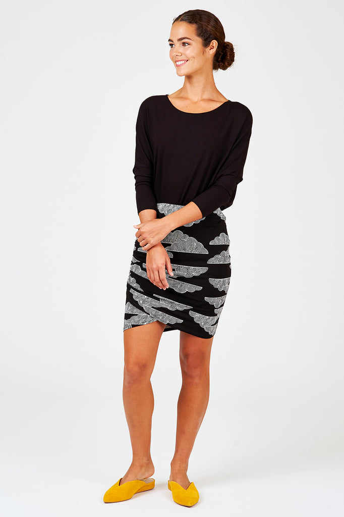 Ruched Wrap Skirt