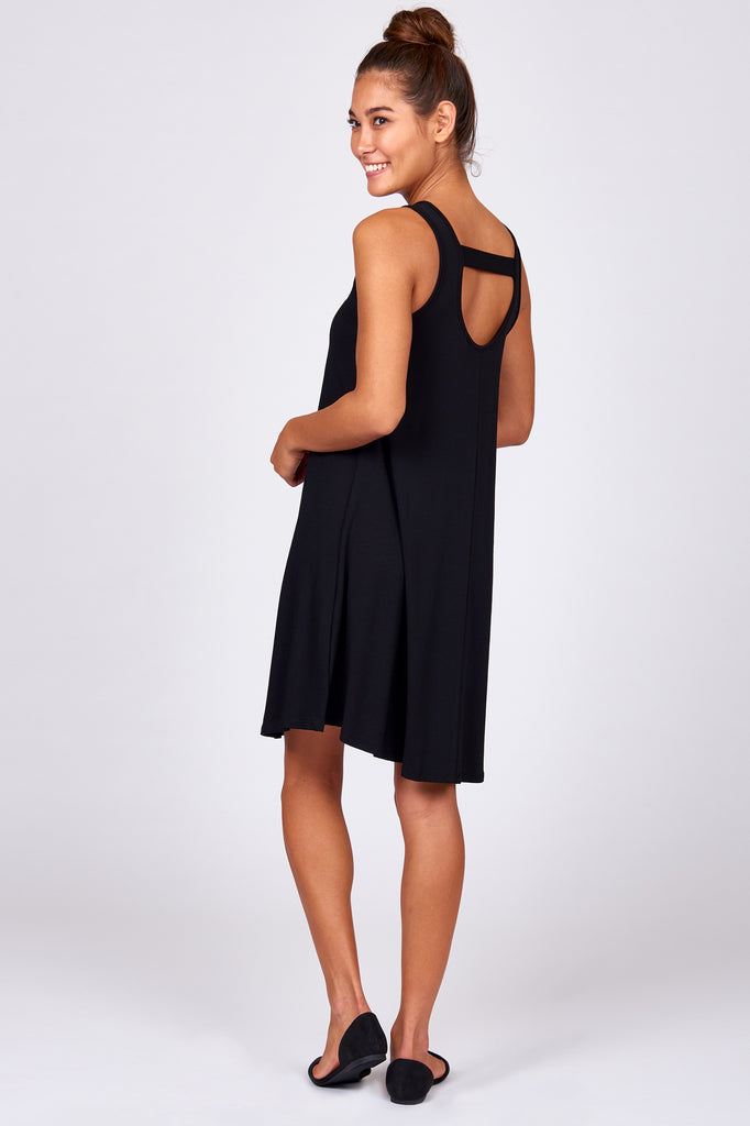 Banded Back Cutout Tank Dress