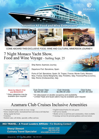 cruise info for hci travel