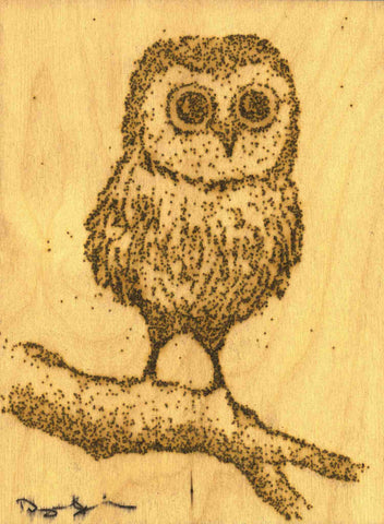 Baby Owl (6 x 8) - SOLD