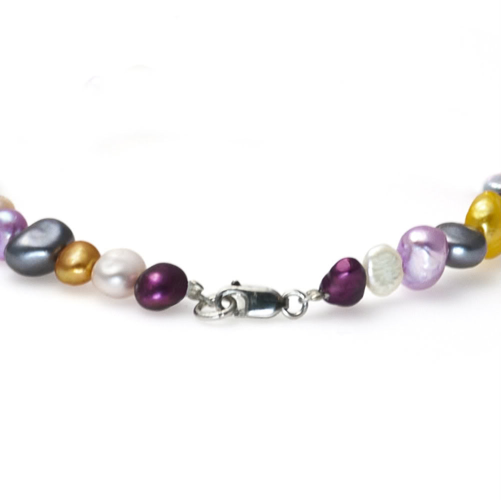 """Rainbow River"" Fresh Water Cultured Pearl Necklace"