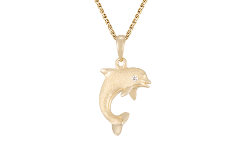 Yellow Gold Dolphin Pendant