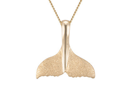 Yellow Gold Whale Tail Pendant
