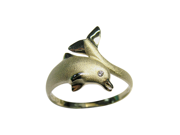 20mm Yellow Gold Dolphin Ring