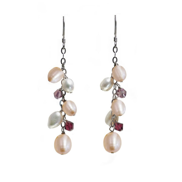 """Cascade"" Fresh Water Cultured Pearl Earrings"