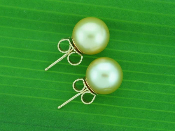 Salt Water Cultured South Sea Pearl Earrings 1