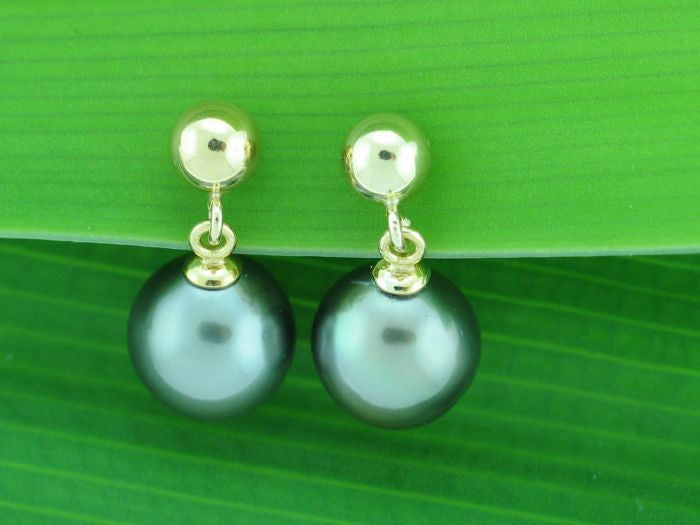 Salt Water Cultured Tahitian Pearl Earrings 5
