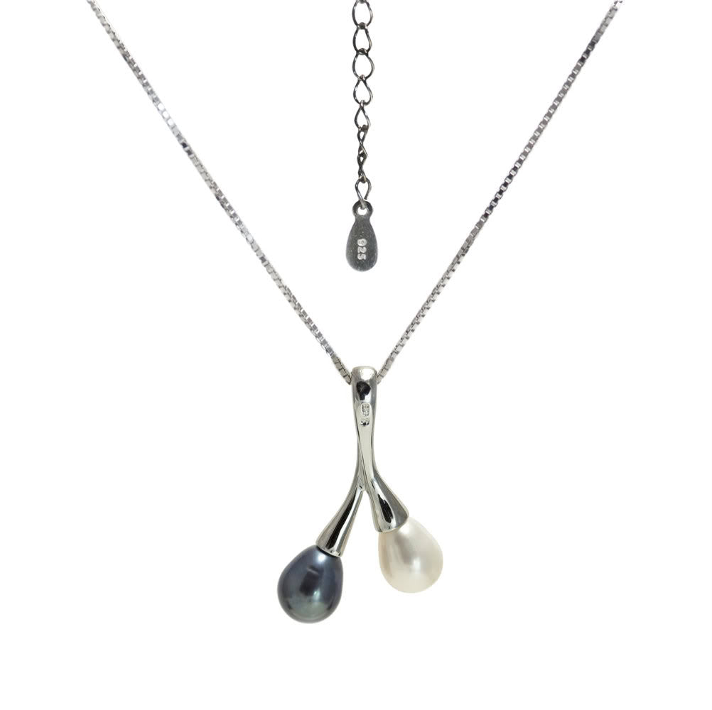 """Toi et Moi"" Fresh Water Cultured Pearl Pendant"