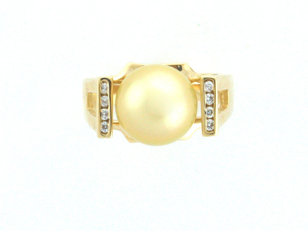 Salt Water Cultured South Sea Pearl Ring 1