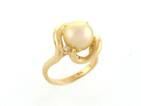 Salt Water Cultured South Sea Pearl Ring 2