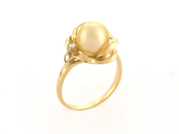 Salt Water Cultured South Sea Pearl Ring 3