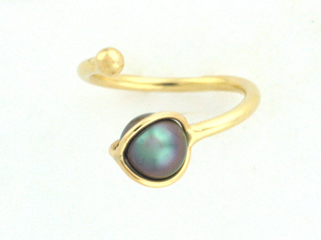 Salt Water Cultured Tahitian Pearl Ring 2