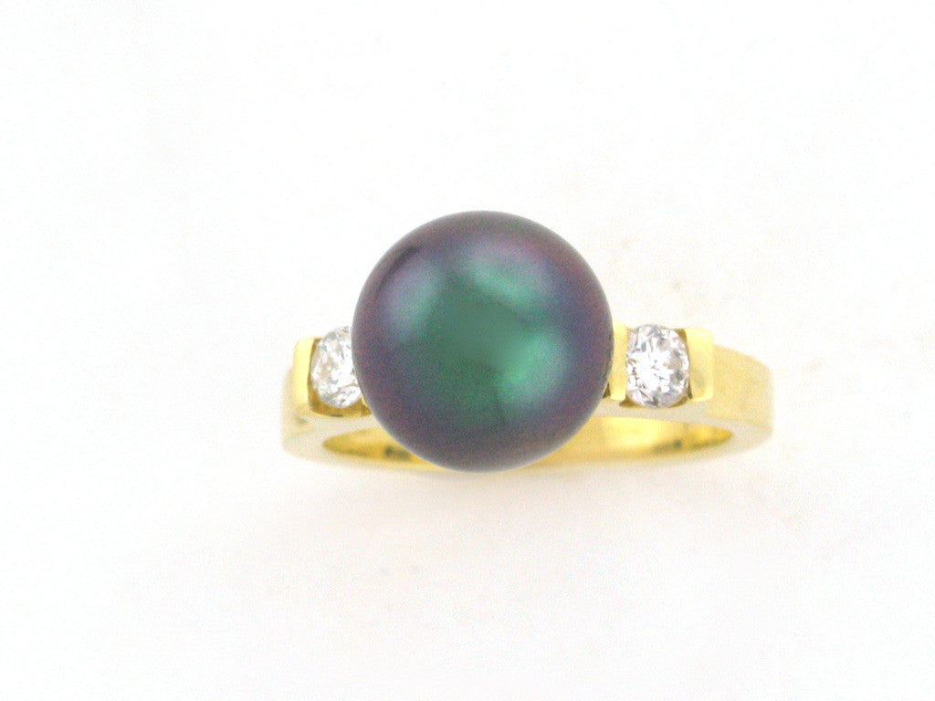 Salt Water Cultured Tahitian Pearl Ring 3