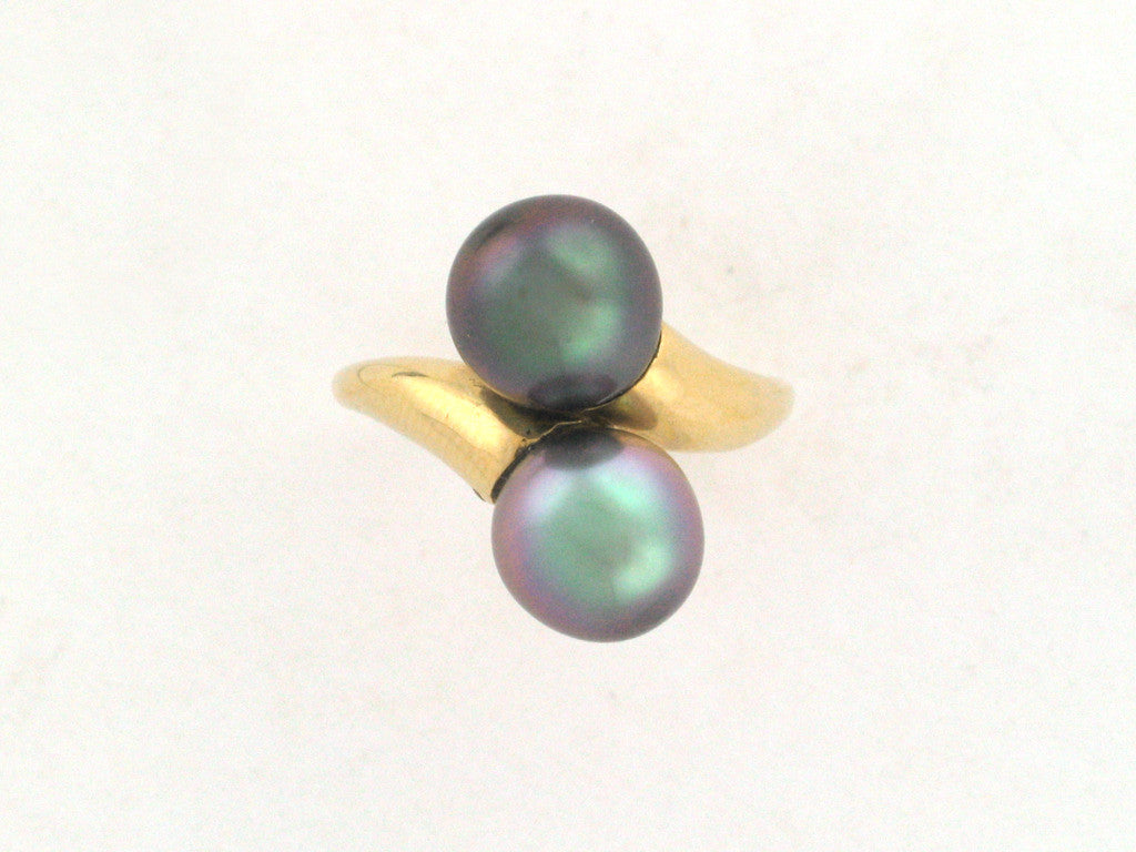 Salt Water Cultured Tahitian Pearl Ring 4
