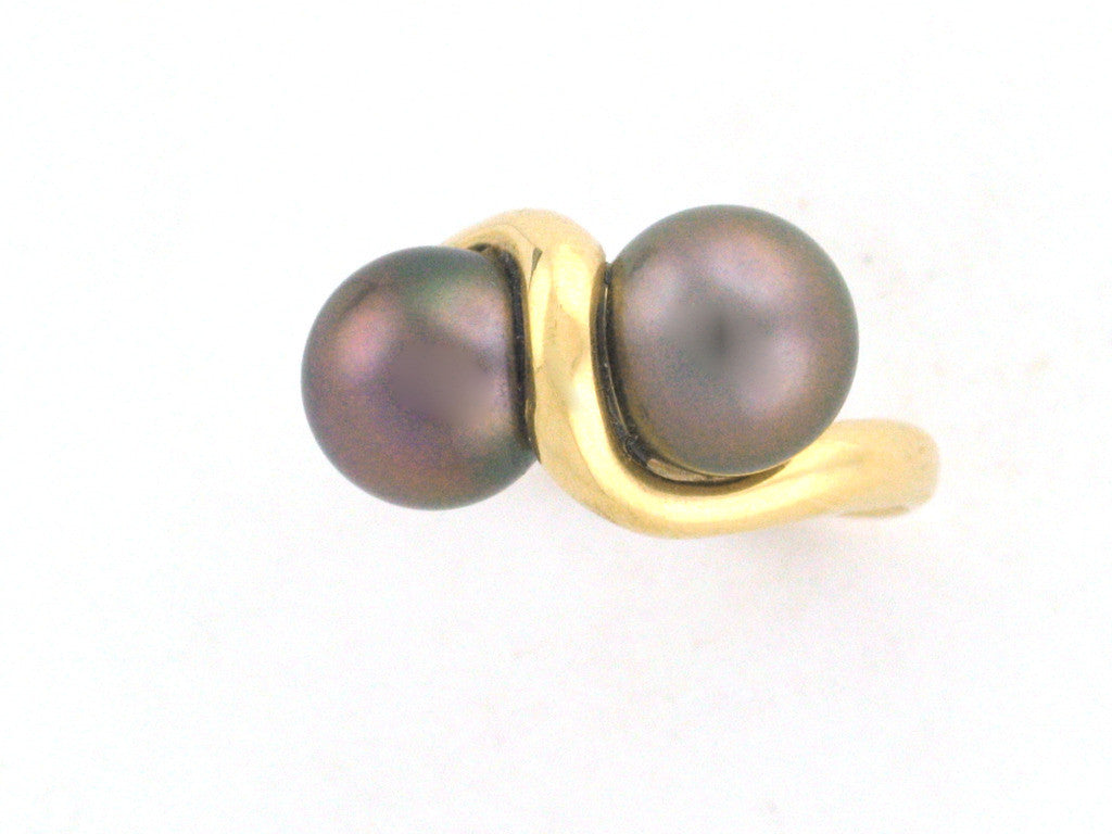 Salt Water Cultured Tahitian Pearl Ring 5