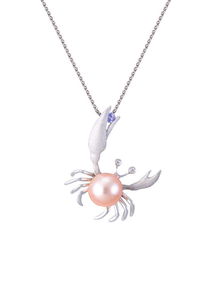 22mm Fresh Water Cultured Pearl Crab Pendant
