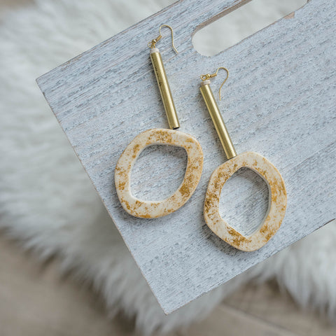 "The ""Hole In One"" Earrings"