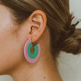 "The ""Pride- Pink/Green"" Earring"