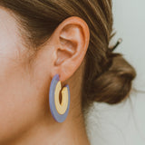 "The ""Pride- Purple/Yellow"" Earring"
