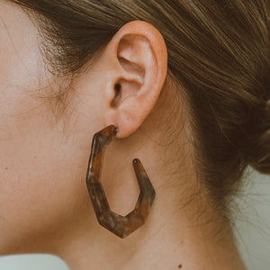 "The ""On the Edge- Tortoise"" Earring"