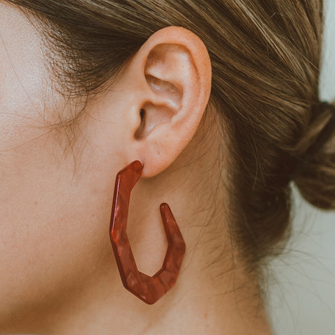 "The ""On The Edge- Ruby"" Earring"