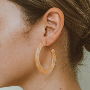 "The ""Orange Jello"" Earring"