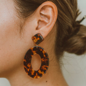 "The ""Hang Out- Tortoise"" Earring"
