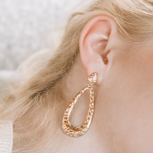 "The ""Your Gold Tears"" Earring"