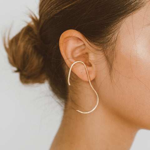 "The ""Two Faced- Gold"" Earring"