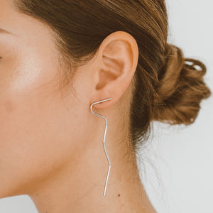 "The ""Two Faced- Silver"" Earring"
