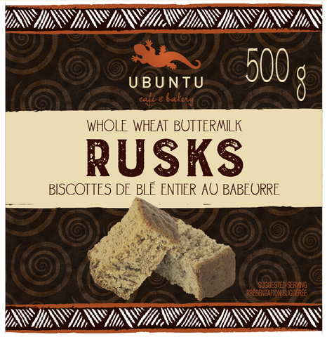 Whole wheat rusks 500g