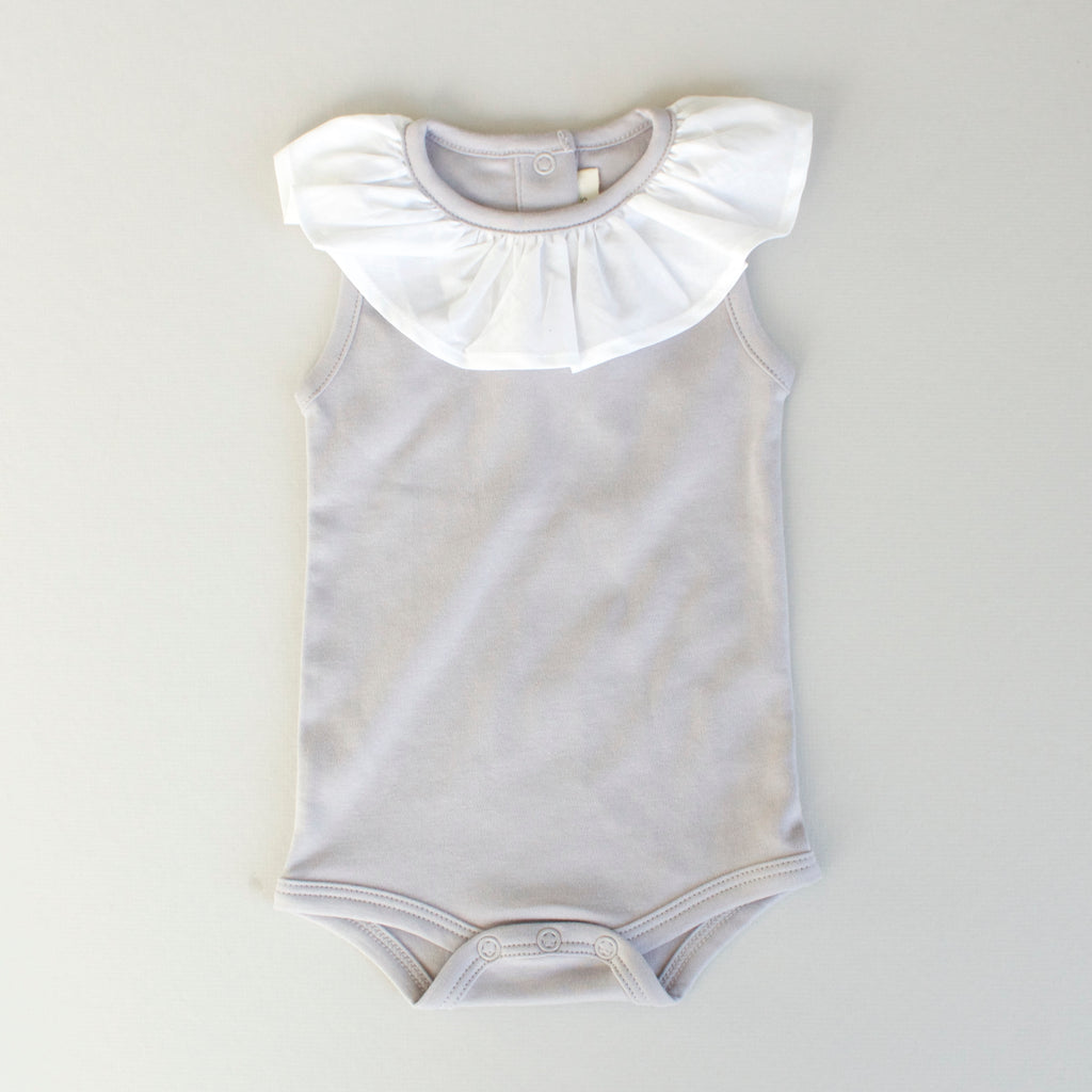 8cc7ae9b4c9 Eloise Playsuit- Gray – petite coo