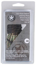 Rifle Caliber Barrel Cleaning Rope with Bronze Brush with Oiled patch, 22 cal OR 30 cal