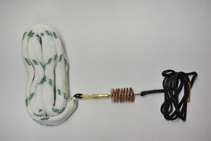 Shotgun Caliber Barrel Cleaning Rope with Bronze Brush with Oiled patch, 12Ga and more to come