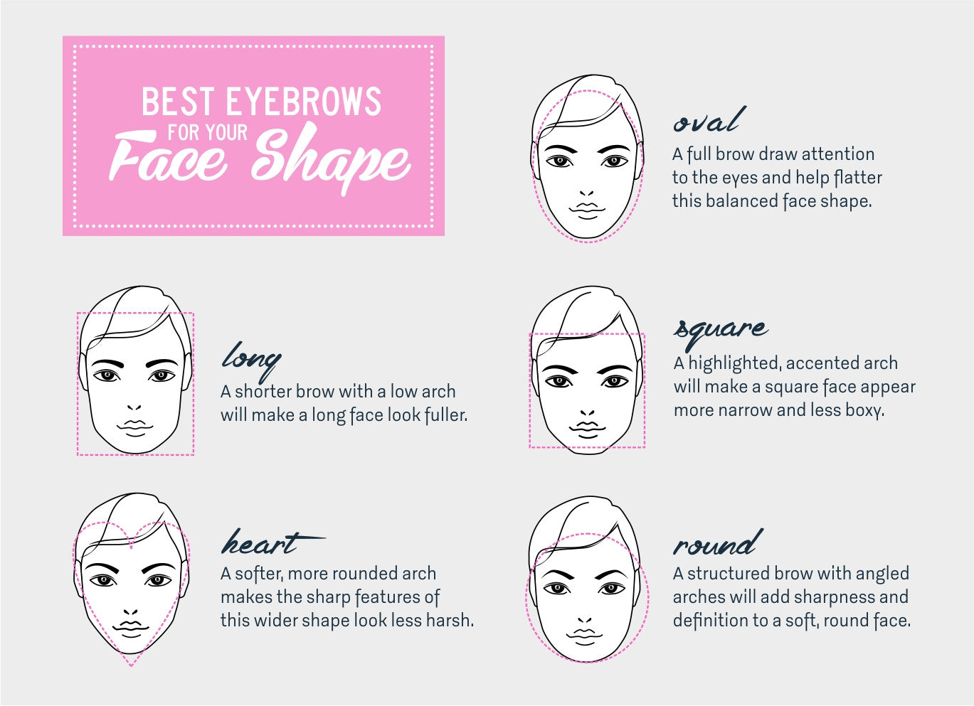 Best Eyebrows For Your Face Shape Tobebabe