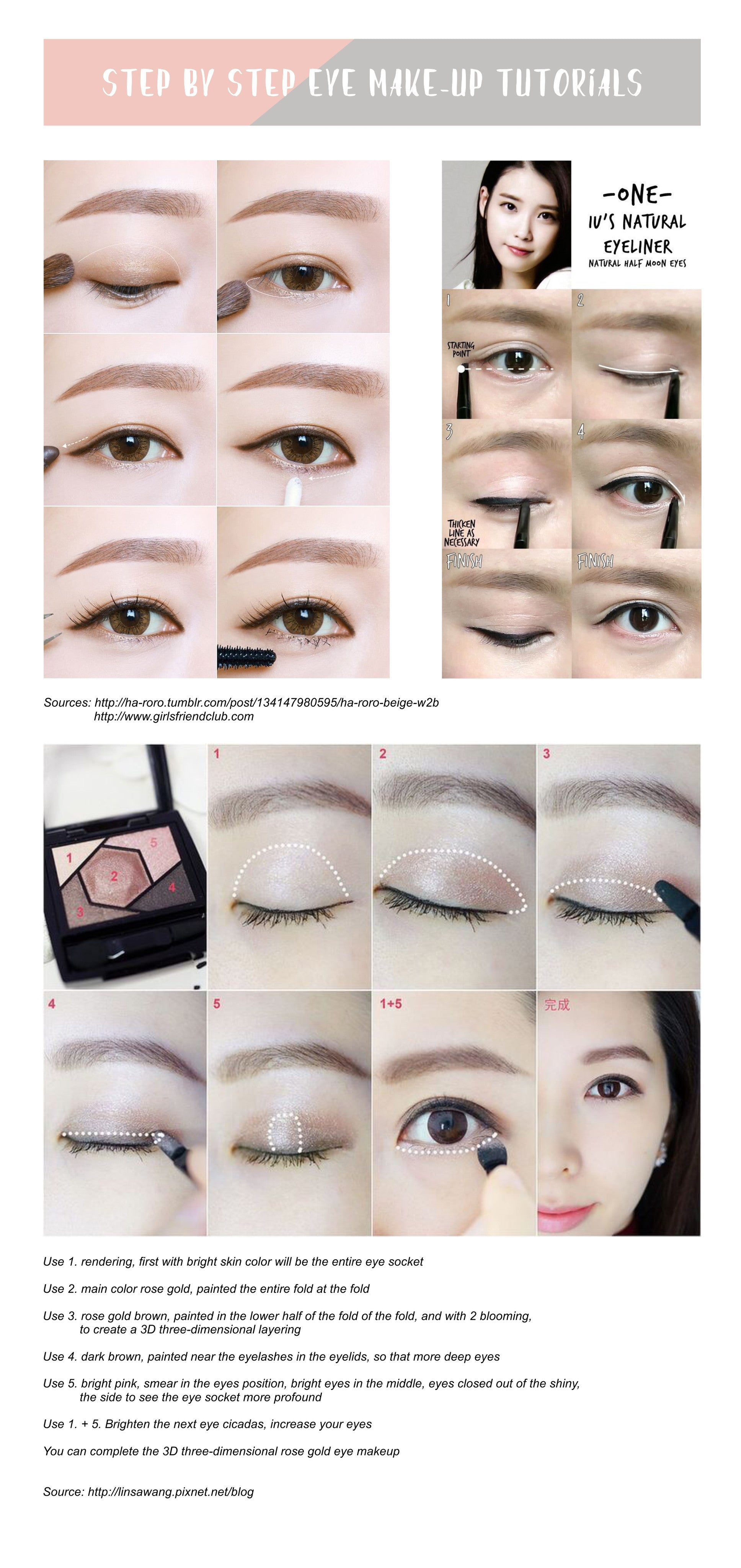step by step korean eye makeup tutorial � tobebabe