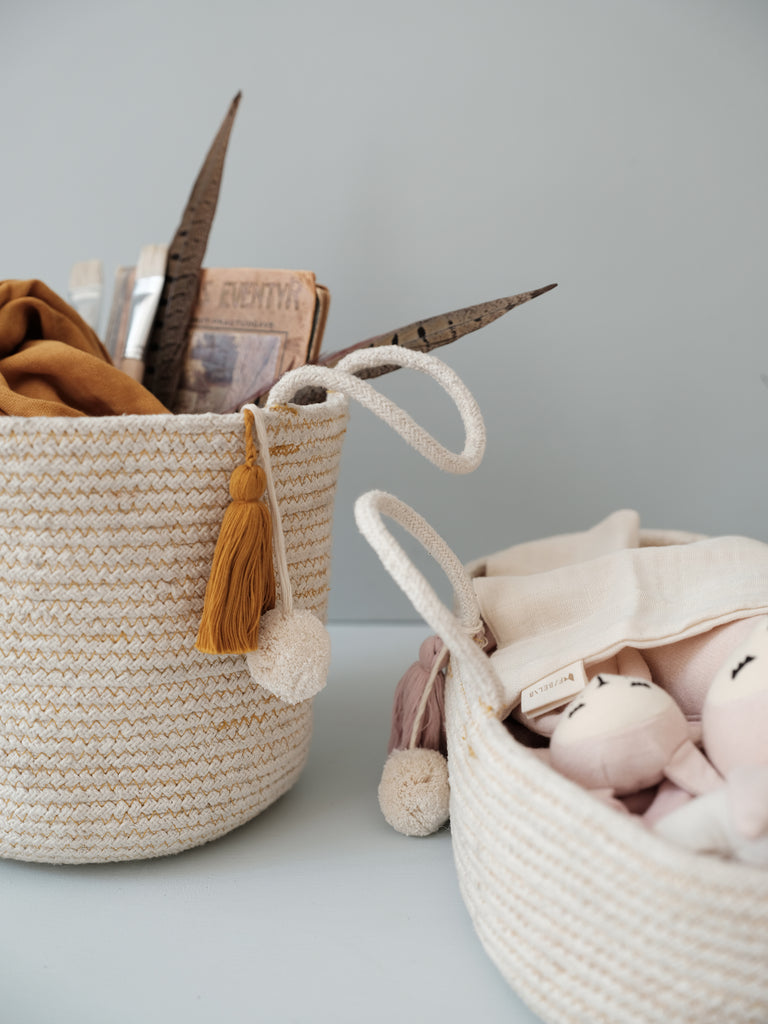 New in: cotton rope baskets