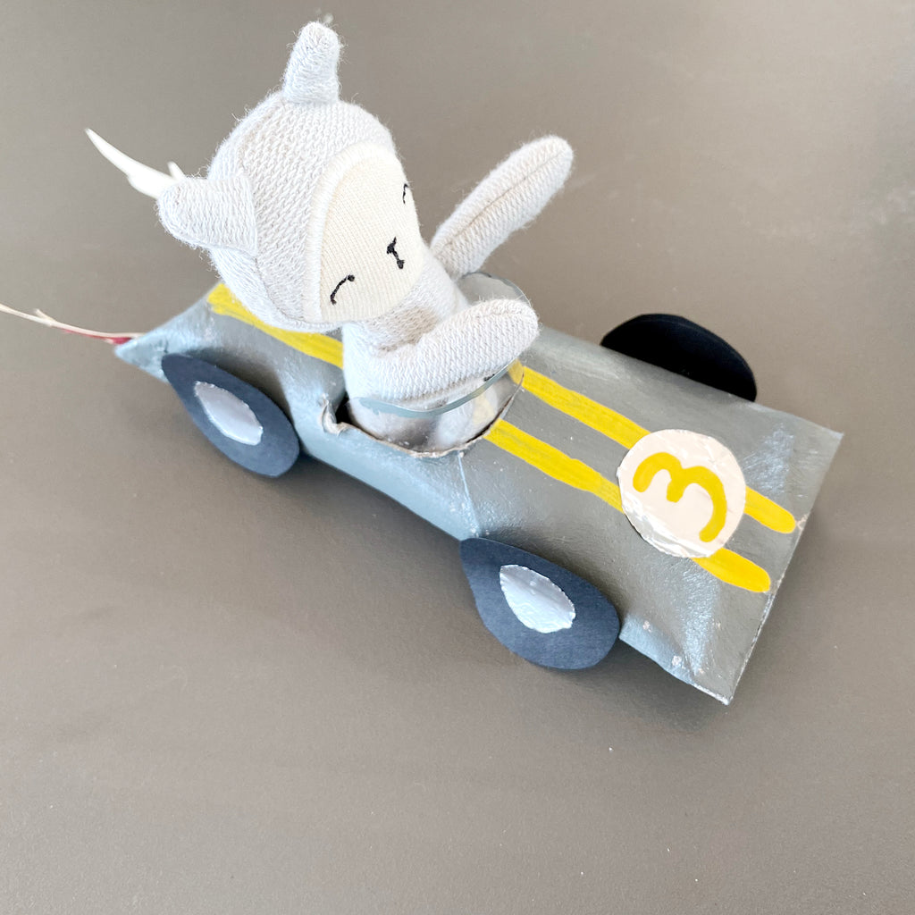 A RACE CAR FOR OUR COOL GREY BUNNY LINUS