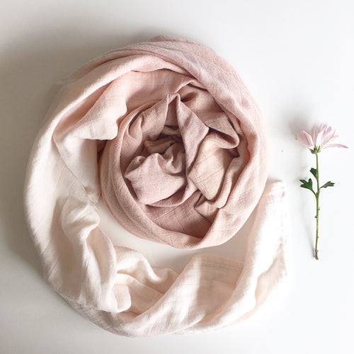 naturally dyed baby swaddle