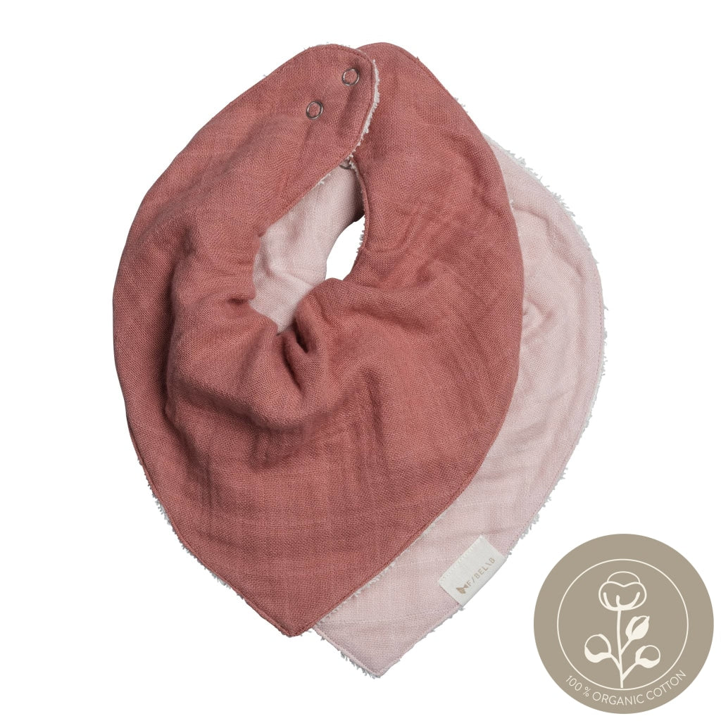 Bandana Bib - 2 Pack - Berry
