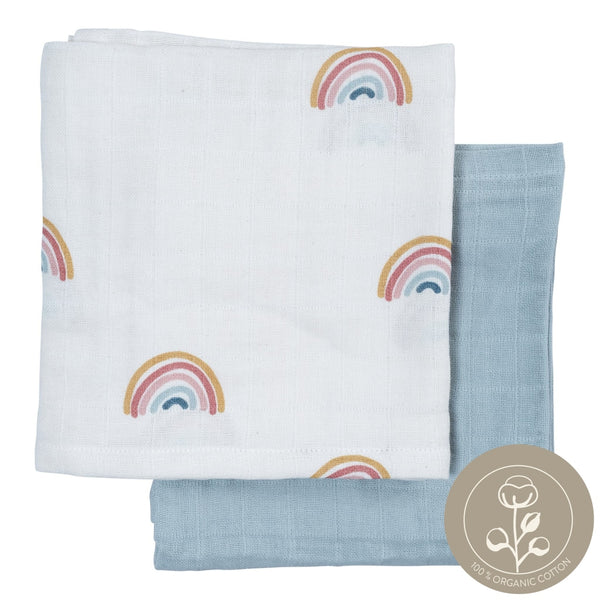 Muslin Cloth - 2 Pack - Rainbow