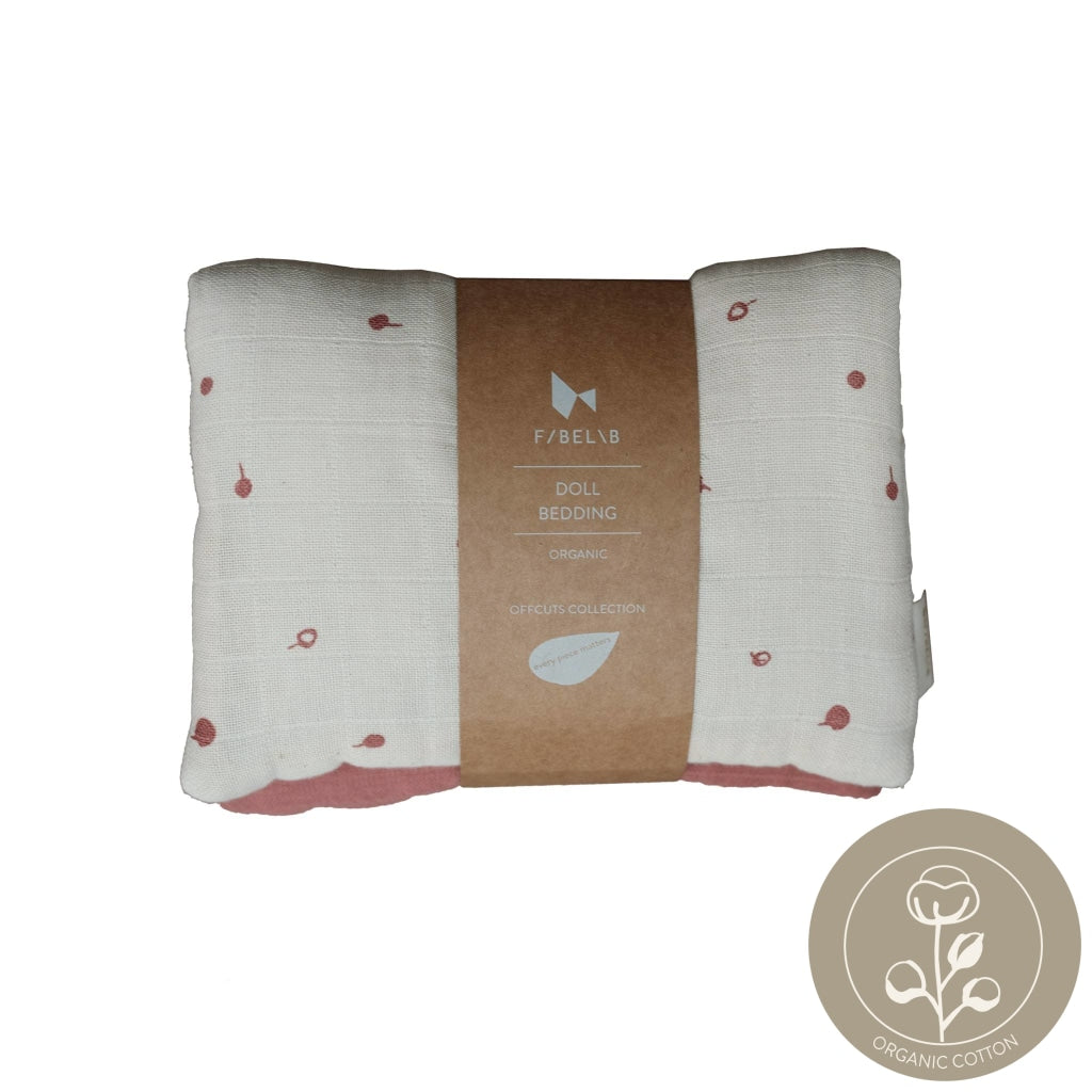 Doll Bedding - Pram - Wild Berry