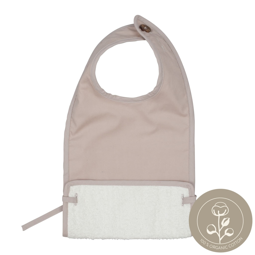 Coated Bib- mauve