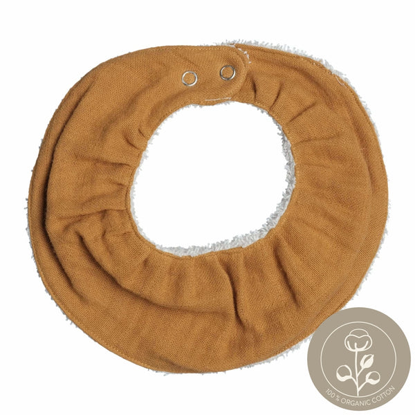 Ruffle Bib - Single - Ochre