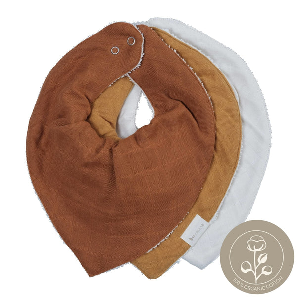 Bandana Bib - 3 pack - Wood