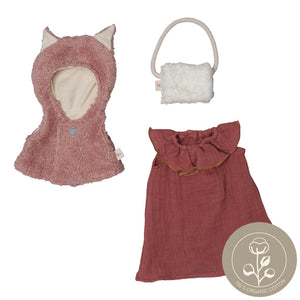 Doll clothes set fox cape
