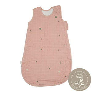 Open image in slideshow, sleeping bag muslin strawberry design