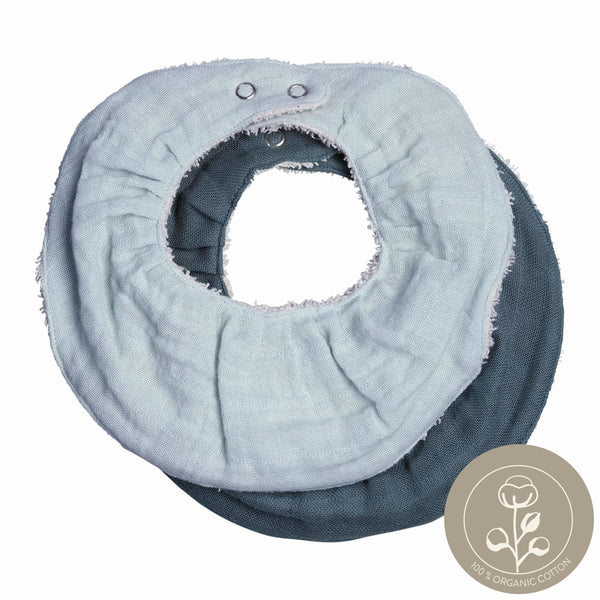 Ruffle Bib - 2 Pack - Sea